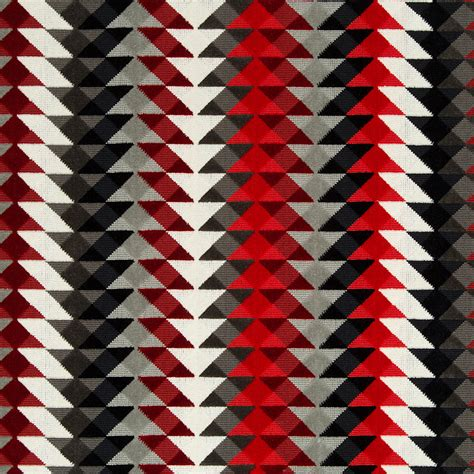black and red upholstery fabric red grey upholstery fabric geometric black white velvet