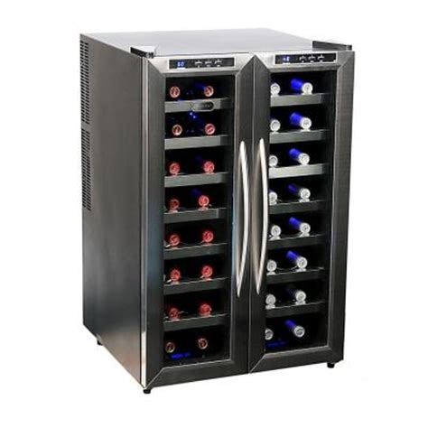 whynter 32 bottle dual zone wine cooler wc 321dd the