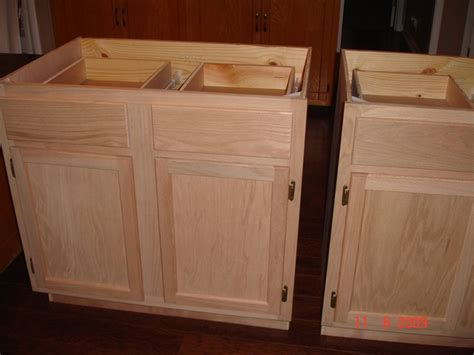 how to finish unfinished kitchen cabinets diy kitchen island made by hubby me from unfinished