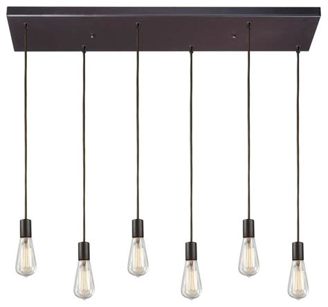 multi pendant lighting kitchen six light oiled bronze multi light pendant transitional