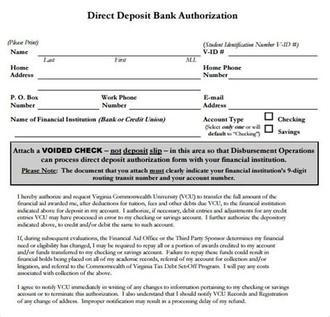authorization letter for bank deposit pdf bank authorization letter for direct deposit 28 images