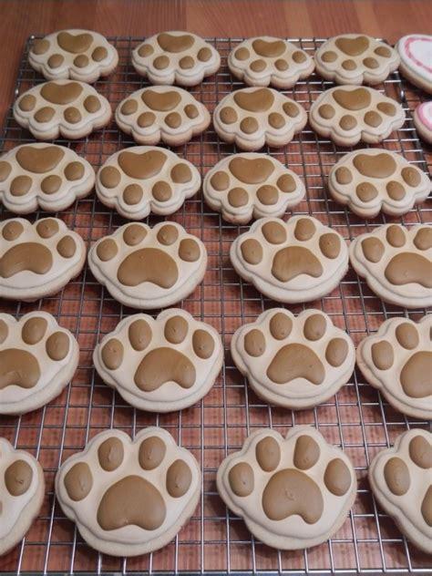 puppy cookies paw sugar cookies treats