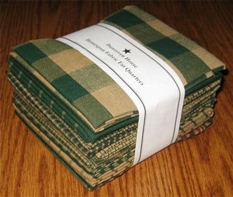 dunroven house dunroven house 12 hunter green primitive homespun fabric fat quarters