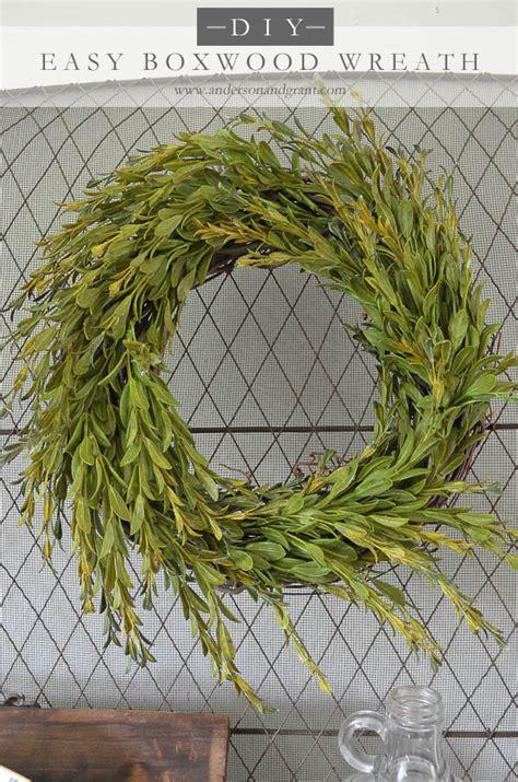 faux wreaths grant easy faux diy boxwood wreath