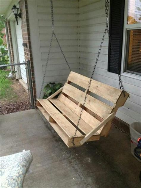 how to make a swing out of a tire 10 pallet yard swing ideas in your backyard pallets designs