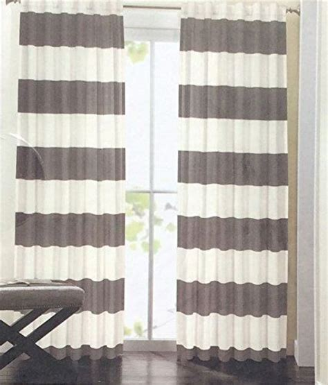 hillcrest curtains 60 pair amazonsmile hillcrest wide stripes curtains 2