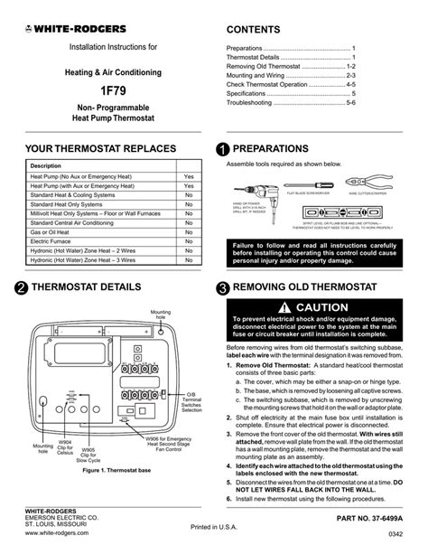 white rodgers thermostat wiring diagram 1f86 344 48
