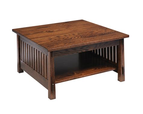 country mission square coffee table amish furniture designed