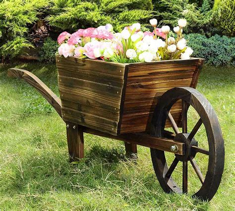 Rustic Wheelbarrow Planter by Wheelbarrow Planter Ideas Garden Yard Pictures