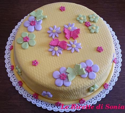 torte fiori torta fiori e farfalle in pasta di zucchero le ricette