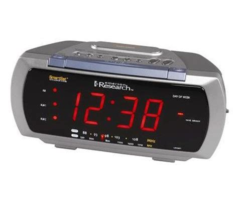 emerson smartset dual alarm clock radio page 1 qvc