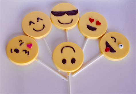 chocolate emoji chocolate emoji lollipops 12 chocolate emoji party favors