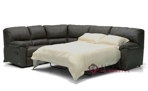 Sectional Sofa With Sleeper And Recliner Palliser Reclining True Sectional Leather Sleeper Sofa Power Upgrade Available