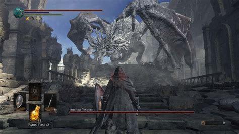 dark souls  ancient wyvern easy kill  hit kill