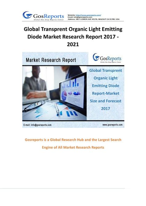 organic light emitting diode report ppt transprent organic light emitting diode report by material application and geography