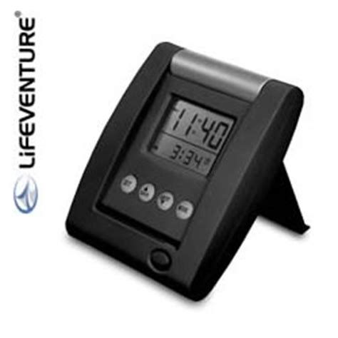 dual time travel alarm clock by lifeventure