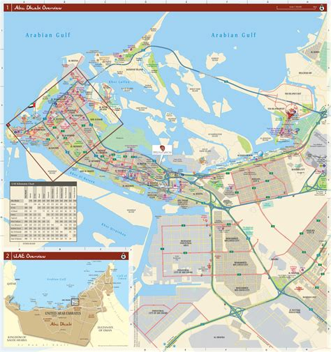 map abu dhabi and dubai abu dhabi city map