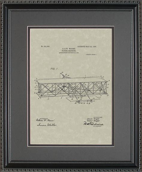 patent wright flyer airplane pilot mechanic flying