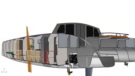 easy catamaran design g force 1700c cad rendering schionning designs sailing