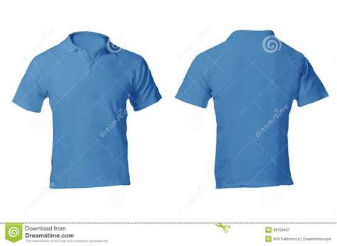 men s blank blue polo shirt template stock image image