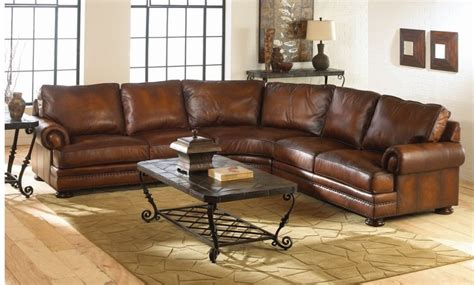 Traditional Leather Sectional Sofa by Durable Snazzy Distressed Leather Sofa Coming With Humble
