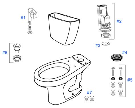 Toto Plumbing Parts by Toto Rowan Toilet Replacement Parts