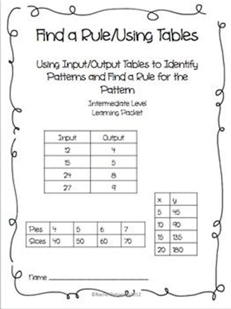 input output pattern rule finder 41 best images about find the rule input output on