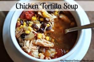 easy slow cooker recipes chicken tortilla soup