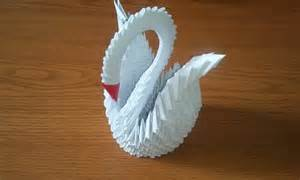 Make 3d how to make 3d origami swan part 1 youtube