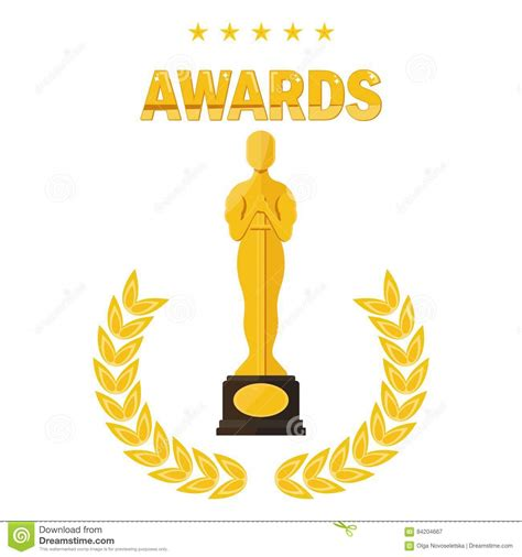 film cartoon oscar oscar film festival awards stock vector illustration of