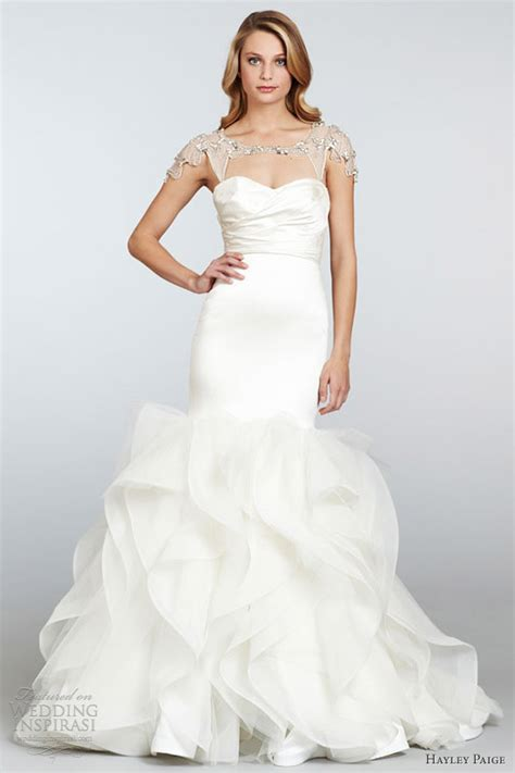 Ruched Draped Skirt Hayley Paige Spring 2013 Wedding Dresses Wedding