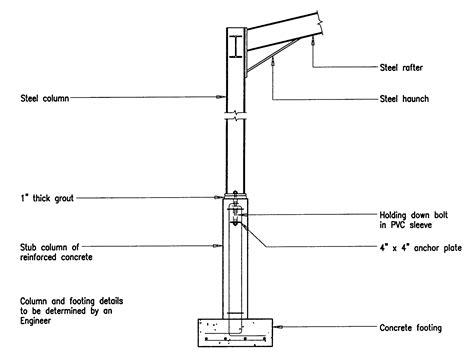 column section steel concrete column footing detail car interior design