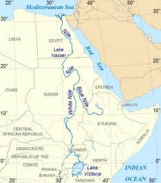 Nile River On World Map by Nile River Map Nile River Largest River In Africa And