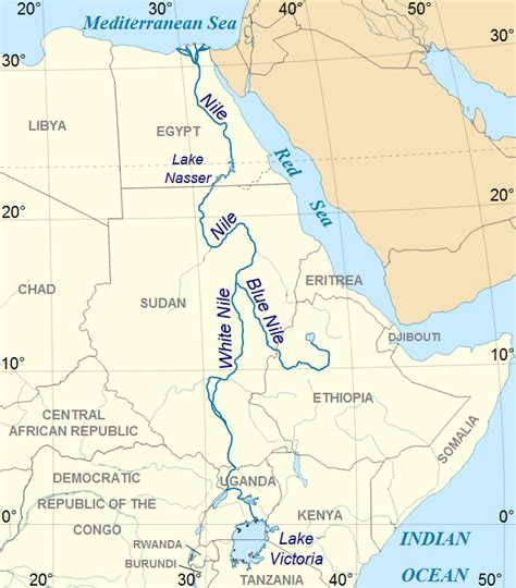 nile river on a africa map nile river map nile river largest river in africa and