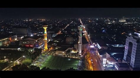 wallpaper alun alun bandung masjid raya bandung night view aerial video youtube