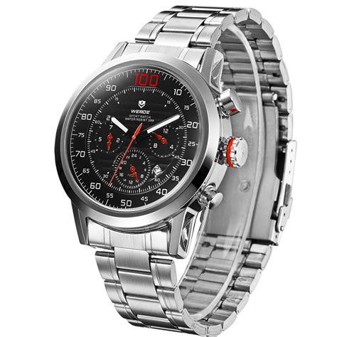 Aaf179 Weide Stainless Sports 30m Water Resist Jam Tangan Wh1101 weide japan quartz stainless sports 30m water resistance wh3311