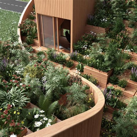 yin yang house gorgeous roof garden feeds owners in the off grid yin yang house inhabitat green