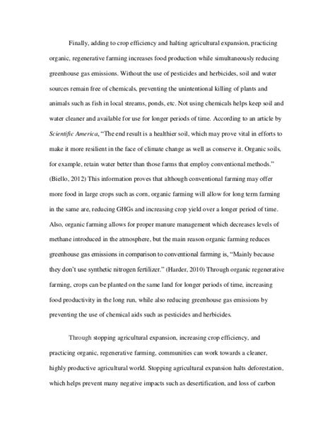 Organic Farming Essay by Organic Farming Essay Outline Docoments Ojazlink