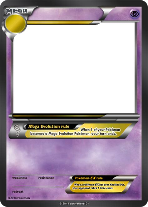 ex card template xy blanks mega psychic by aschefield101 on deviantart