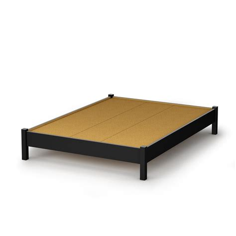 bed platform south shore step one full platform bed 54 quot in pure black