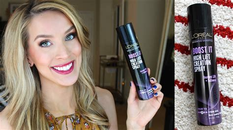 Loreal Xo loreal boost it high lift creation spray review bigger