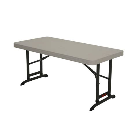 Lifetime 4 Ft Almond Commercial Adjustable Folding Table