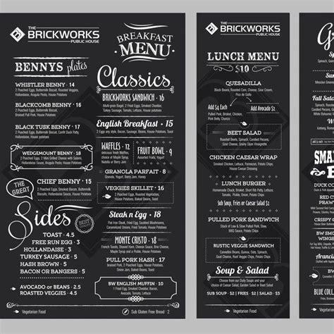 pub menu template create a gastro pub menu by istasik logo design