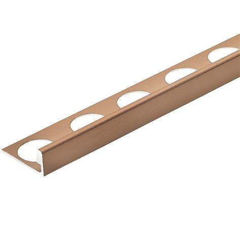 Copper Floor L Custom Building Products Copper Anodized 3 8 In X 98 1 2 In Aluminum L Shaped Tile Edging Trim