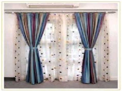 two curtains one rod double curtain rods youtube