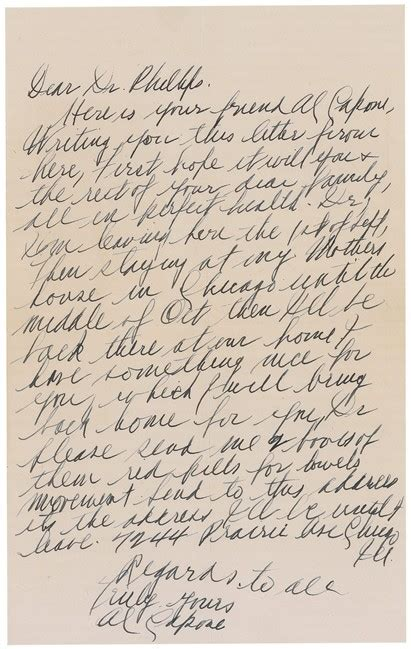 lettere al capone s letter to doctor records in later years