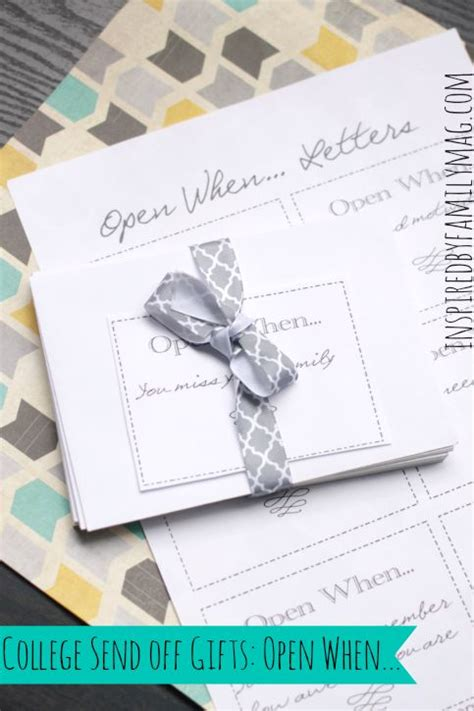 Gift Sending Letter Great College Send Gifts Open When Letters
