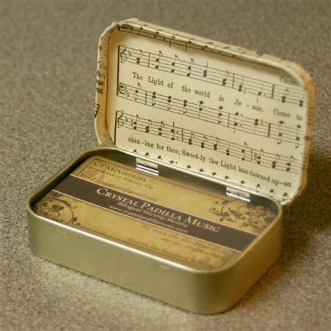 altoids diy projects business card holder from an altoids tin crafting a