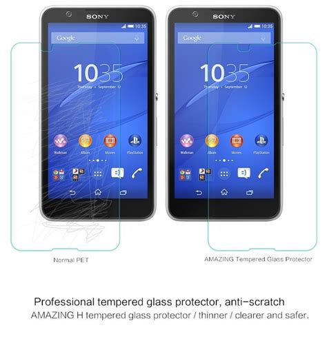 Protector With Stand For Sony Xperia E4 nillkin glass screen protector for sony xperia e4 e4 dual