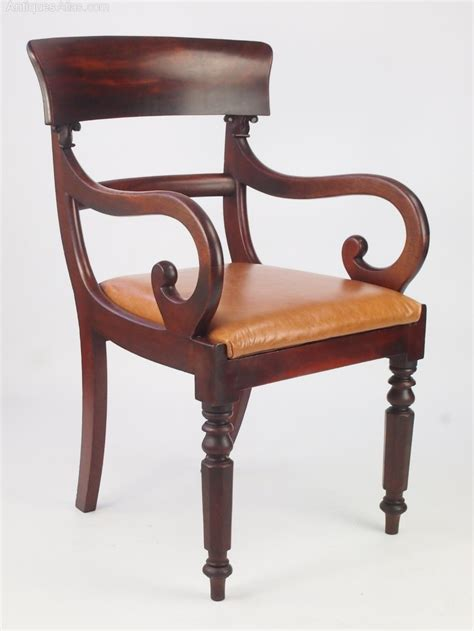 antique mahogany desk chairs antique mahogany open armchair or desk chair antiques atlas